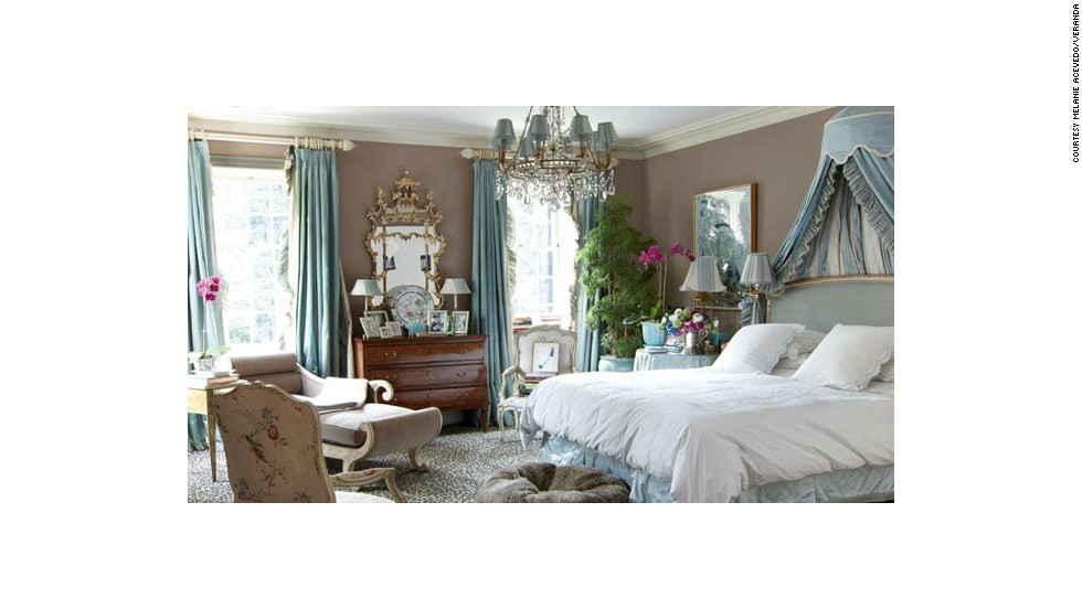 This bedroom, designed by Miles Redd, from the March/April 2013 issue of Veranda, romances the senses with multitudes of fresh flowers and foliage.