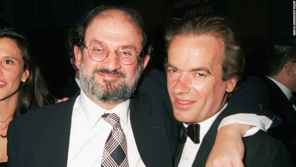 Rushdie, here with Martin Amis, won the 1995 Author of the Year award on February 9, 1996.