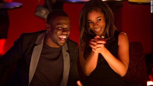 "Kevin Hart and Regina Hall star in the romantic comedy ""About Last Night."""