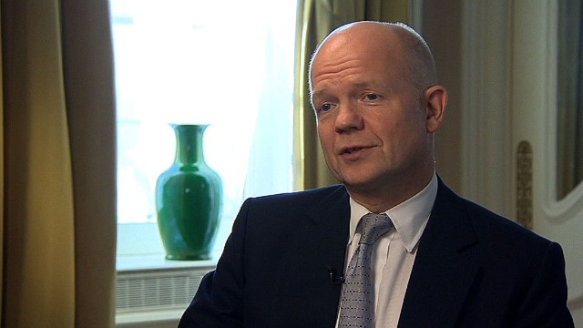 Hague: Syrian regime must work with us