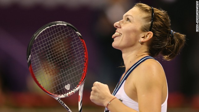 Simona Halep was winning the biggest tournament of her career in Qatar.