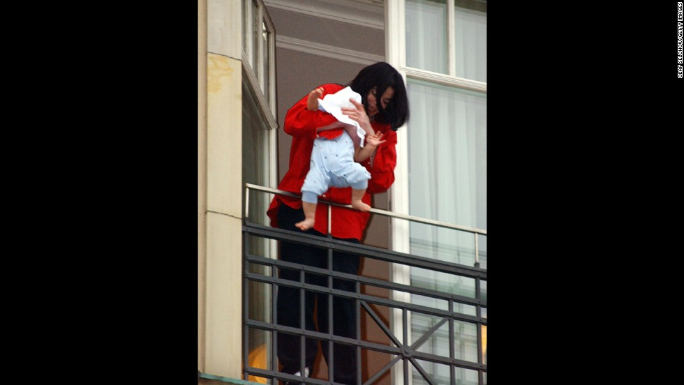 The late Michael Jackson stirred a great deal of controversy when he dangled his then 8-month-old son Prince Michael II over the balcony of the Adlon Hotel in Berlin in November 2002.