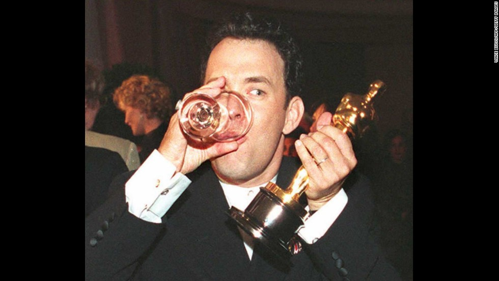 "Tom Hanks proved his versatility when he won the best actor Oscar for the second year in a row. His prize this time was for his performance as the mentally challenged but indefatigable ""Forrest Gump."""