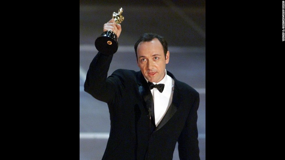 """American Beauty"" was a cynical look at American middle class life with a new century arriving. Star Kevin Spacey received the best actor award for his portrayal of a middle-aged man who lusts after his teenage daughter's friend. The film also won best picture, director (Sam Mendes) and original screenplay (Alan Ball)."