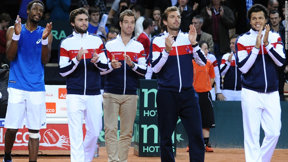 "With Gael Monfils, far left, Gilles Simon, second from left, Richard Gasquet, third from left, and Jo-Wilfried Tsonga, far right, coming through the ranks at about the same time, there were high hopes for the so-called ""New Musketeers"" of French tennis."