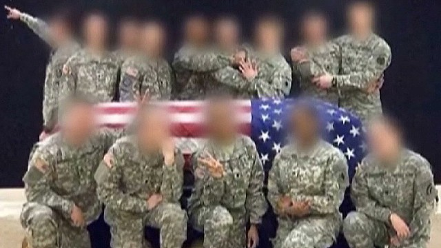 Soldier stirs outrage for offensive pics