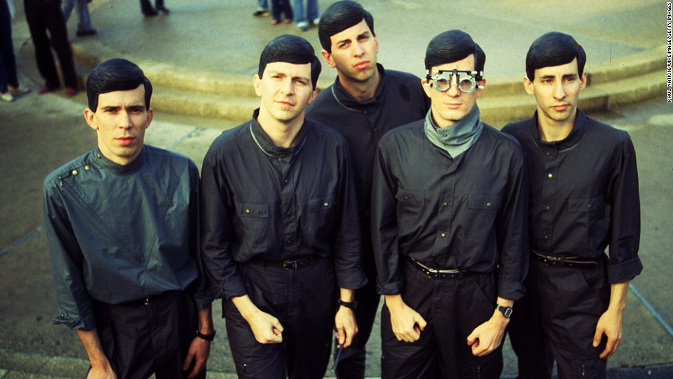 Devo poses for a photo in Chicago in October 1981.