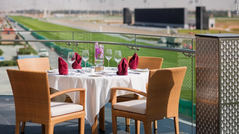 The Farriers Restaurant sits just yards from the point at which millions of dollars will be won on the track when the 2014 Dubai World Cup takes place.