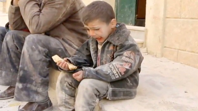 Children suffer Syrian barrel bomb attacks