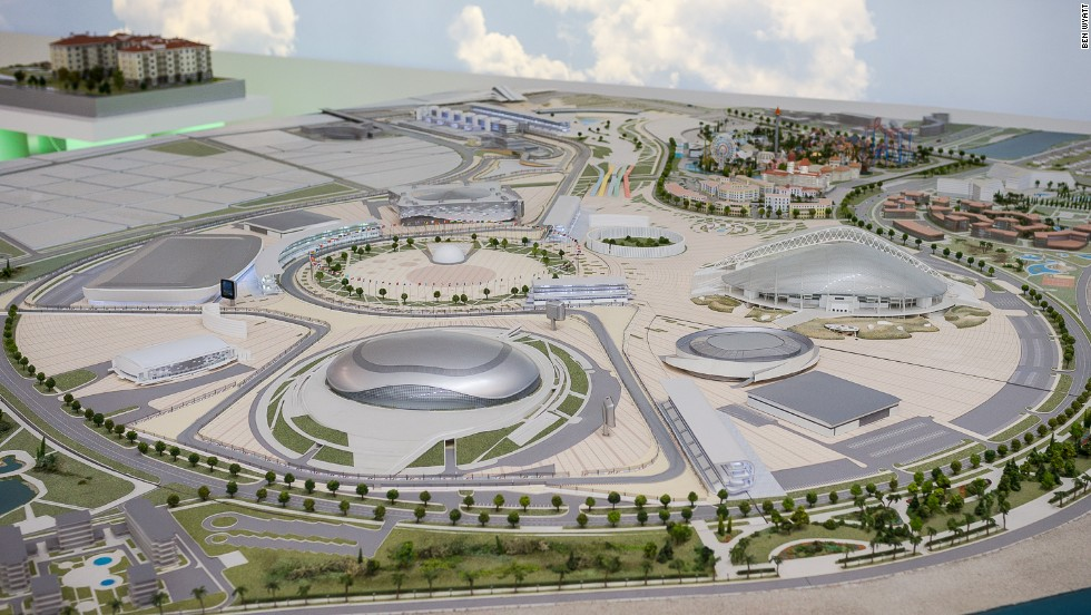 The Olympic Park will be the centrepiece of the circuit, with the track circling a number of venues used for the 2014 Winter Olympics. The racing track surface will not be laid until after the Games have finished.