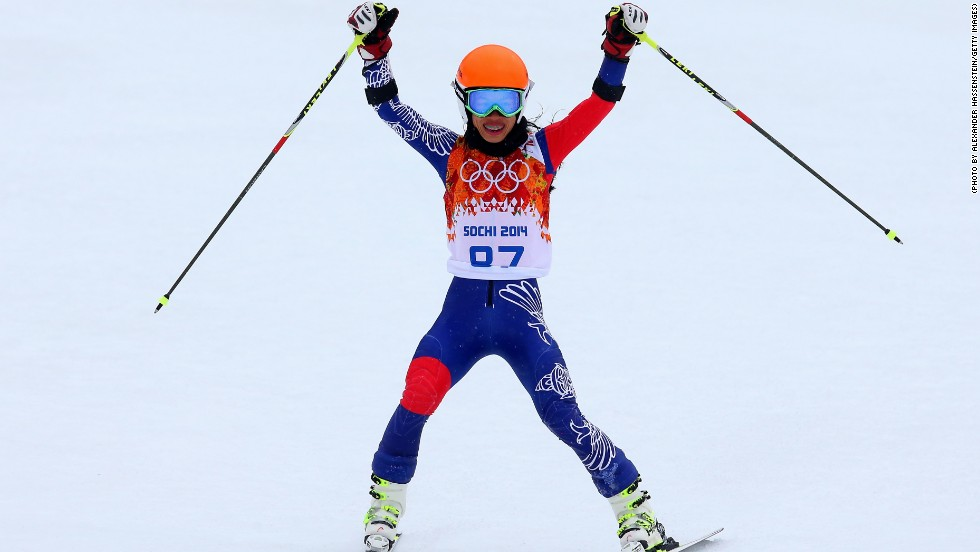 Despite finishing 67th in the giant slalom -- some 50.10 seconds behind winner Tina Maze -- Vanessa Mae was delighted to make her Olympic bow at Sochi.