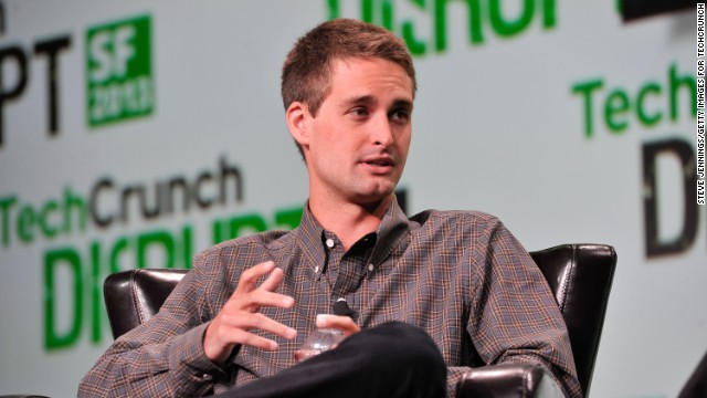 Snapchat CEO Evan Spiegel speaks at the TechCruch Disrupt SF 2013 conference in September in San Francisco.