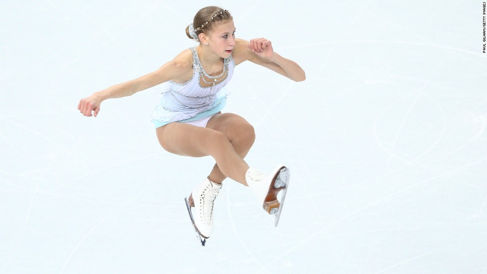 Figure skater Polina Edmonds of the United States competes February 20.