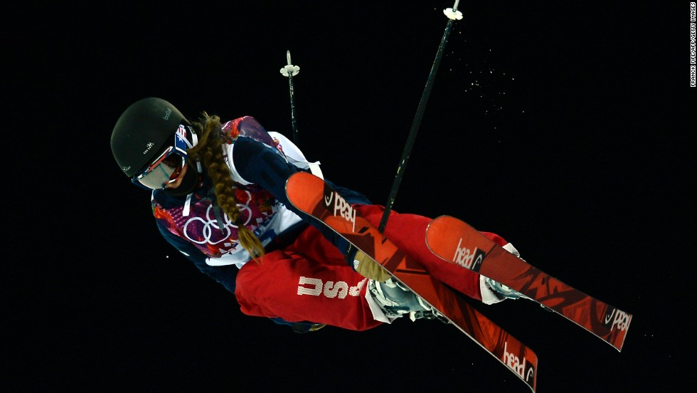 Maddie Bowman of the United States competes in the women's halfpipe on February 20.