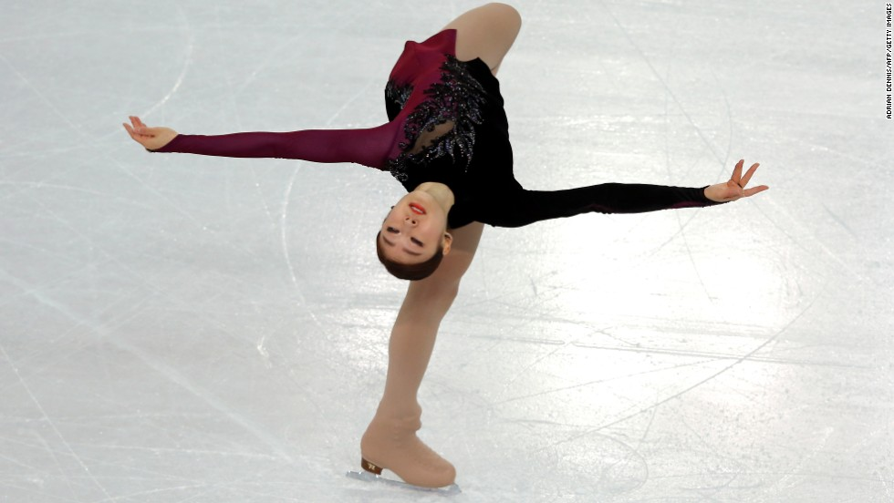 Kim, performing February 20, finished with a total score of 219.11.