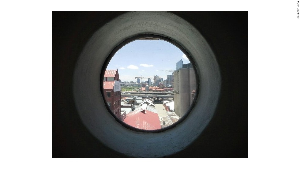 The view from inside the Mill Junction building which lies close to the central Johannesburg business district.