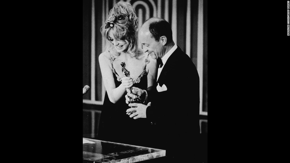 "George C. Scott lives up to his tough guy role in the film ""Patton"" when in 1971 he refuses both the Oscar nomination and the win for best actor. Scott scorns the Academy as contrived and degrading and Goldie Hawn ends up presenting the award to Frank McCarthy on Scott's behalf."