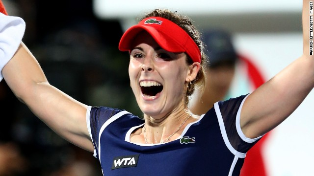 Alize Cornet pulled off one of the biggest tennis upsets of the year by defeating Serena Williams in Dubai.