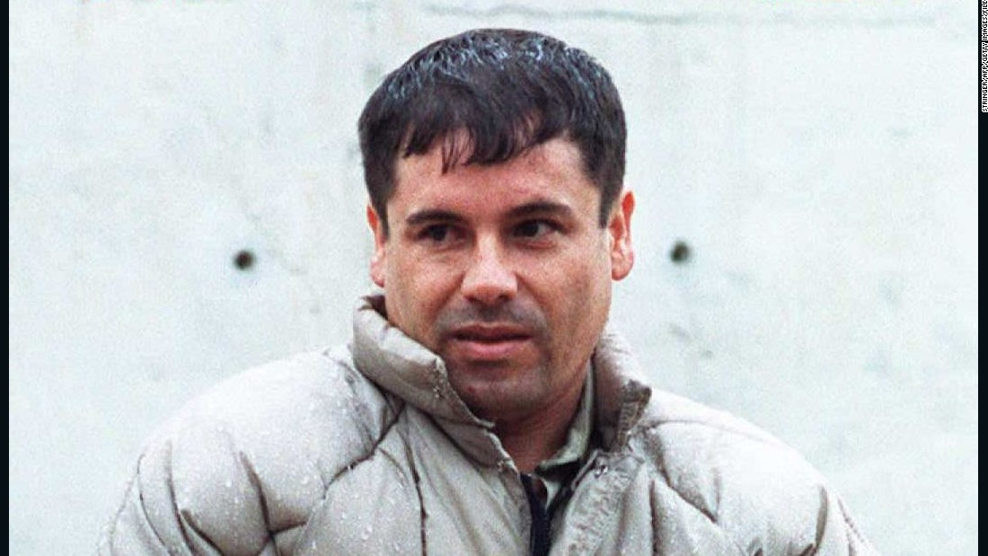 MEXICO, MEXICO - JANUARY 18: This archive photo of drug lord Joaquin 'Chapo' Guzman was taken 10 July 1993 at the Almoloya prison in Juarez after being apprehended by Mexican authorities. (Photo credit should read STR/AFP/Getty Images) Date created: