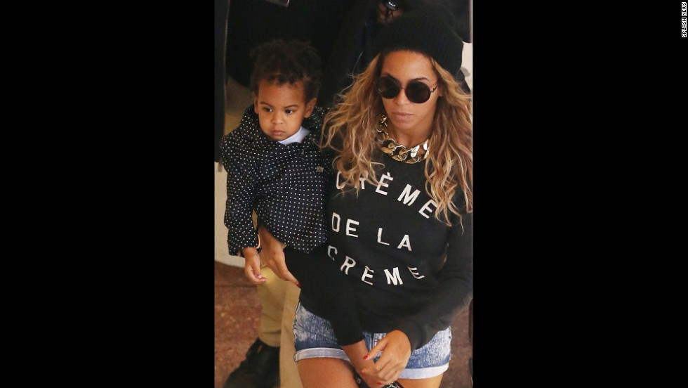 Beyonce Knowles and Blue Ivy Carter
