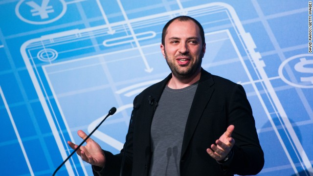 WhatsApp co-founder and CEO Jan Koum addresses the Mobile World Congress on Monday in Barcelona, Spain.