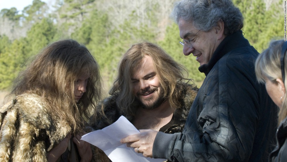 "Ramis directed Michael Cera, left, and Jack Black in ""Year One"" (2009)."