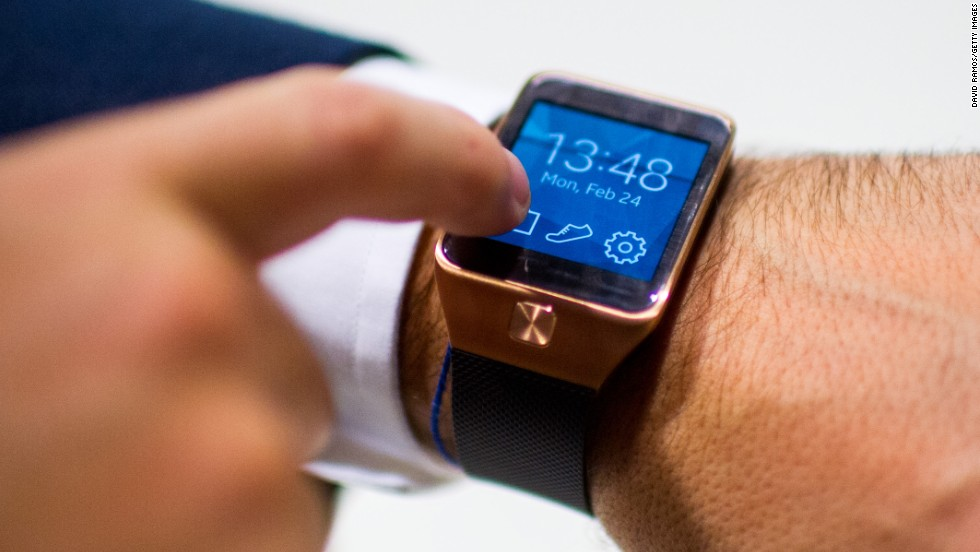 "In addition to the Galaxy S5, Samsung announced the Gear2 watch, which <a href=""http://money.cnn.com/2014/02/23/technology/mobile/samsung-gear-2-smartwatch/"">ditches the Android OS</a>."