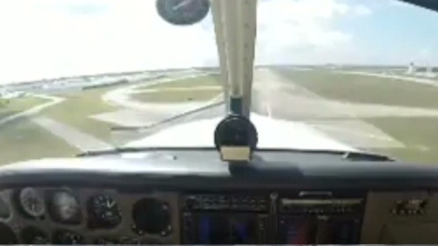 Bird strike caught on camera
