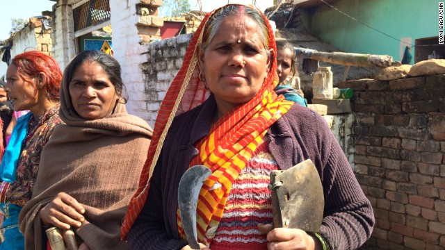 Mithilesh says women in her village are scared to work in the fields since the attacks. Many go out in groups of 15 or 20.