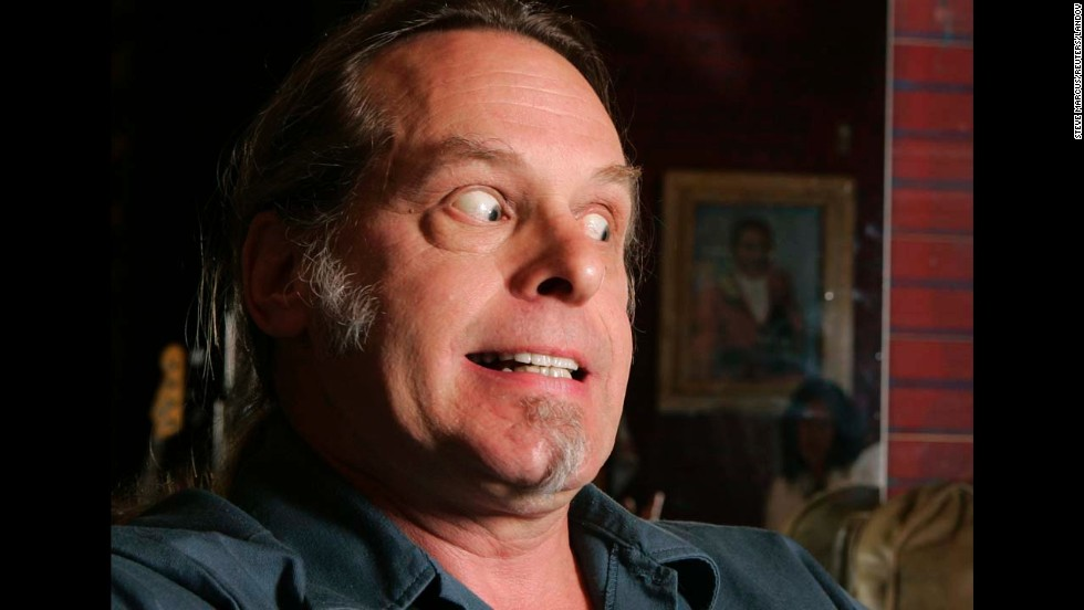 Nugent reacts during an interview in Las Vegas in 2007.