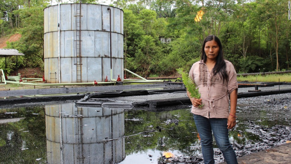 Alicia Cahuilla's Waorani tribe has lived on the edge of Ecuador's Yasuni National Park for thousands of years. But they're worried about new oil exploration in the area.