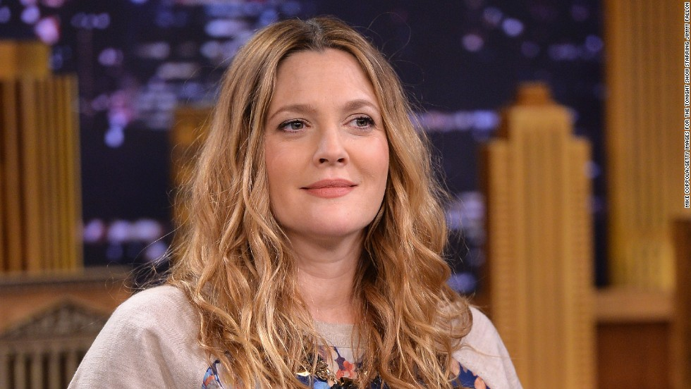 "A very pregnant Drew Barrymore rallies for an appearance on ""The Tonight Show starring Jimmy Fallon"" on February 26."