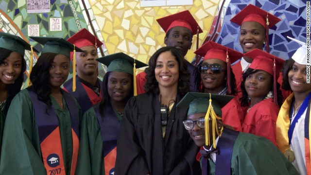 Liz Dozier is principal at Chicago's Fenger High School, where gang violence poses a threat every day.