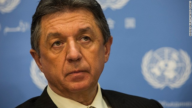 NEW YORK, NY - FEBRUARY 24: Ukrainian respresentative to the United Nations, Yuriy Sergeyev, speaks during a press conference about the on-going social upheaval in Ukraine, on February 24, 2014 at the United Nations in New York City. Ukraine has seen serious protests and clashes between protestors and police over the past three months, leaving over one hundred people dead. (Photo by Andrew Burton/Getty Images)
