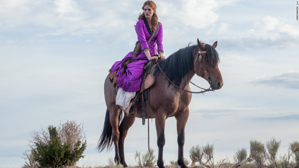 "January Jones stars in the 2013 film ""Sweetwater."""