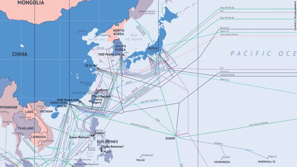 What The Internet Looks Like Undersea Cables Wiring Ends Of The Earth - Japan map 2014
