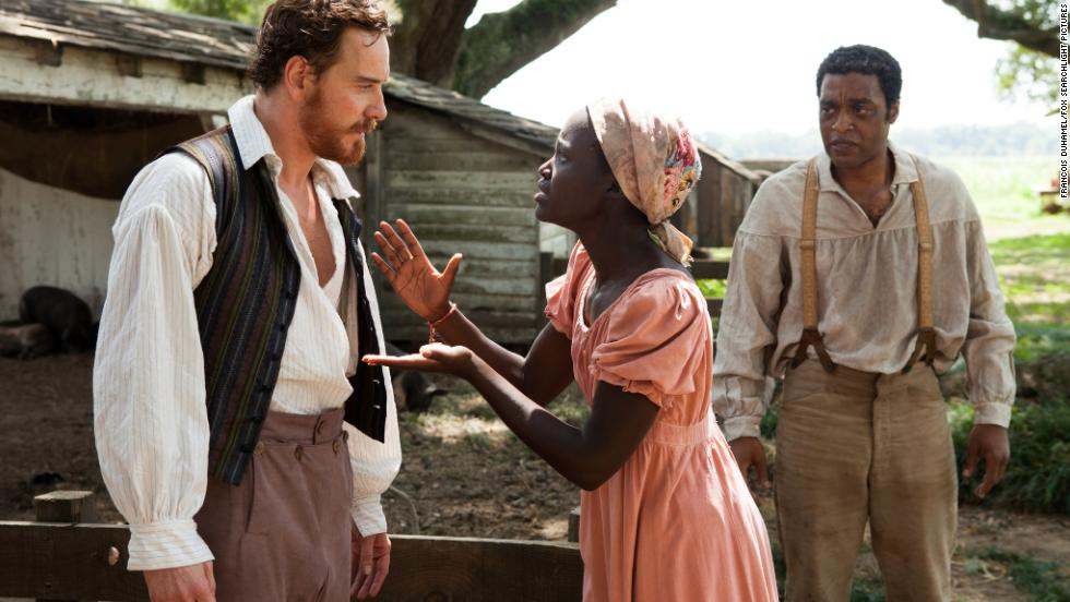 "The Oscar winner for best picture, ""12 Years a Slave,"" starring Michael Fassbender, Lupita Nyong'o and Chiwetel Ejiofor."