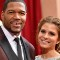 04 oscars red carpet - Michael Strahan and Maria Menounos