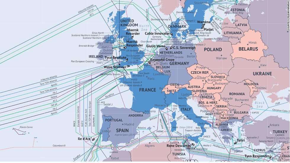 What The Internet Looks Like Undersea Cables Wiring Ends Of The Earth - Us internet speed map