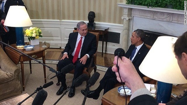 Obama and Netanyahu in Oval Office