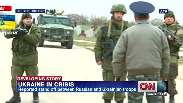 Warning shots fired at Ukrainian base