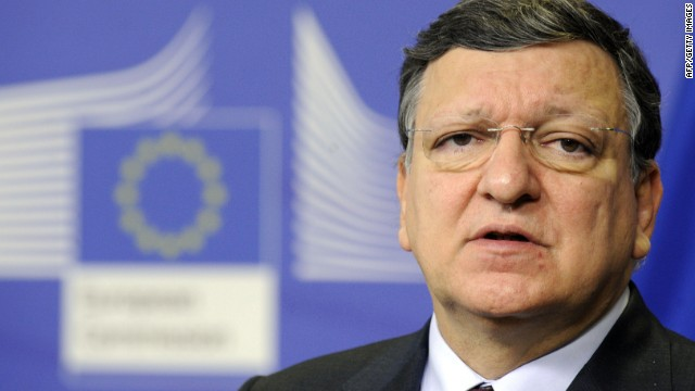 EU Commission President Jose Manuel Barroso speaks about the situation of Ukraine on February 20,2014 at the EU Headquarters in Brussels.