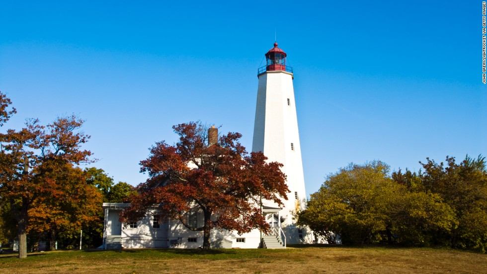 The Sandy Hook Lighthouse in New Jersey is part of Gateway National Recreation Area, which is also in New York. It came in seventh place on the list.