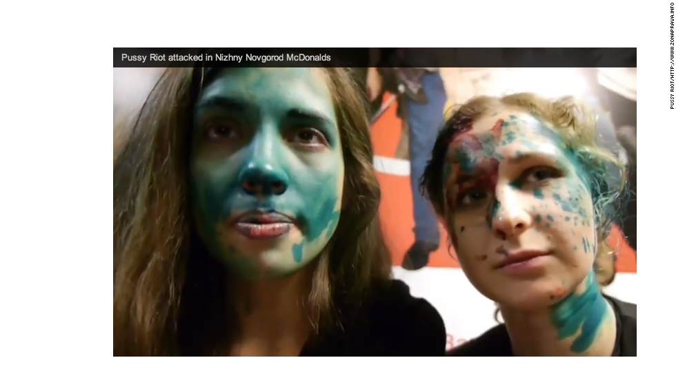 Pussy Riot members attacked in Russian city while eating at McDonald's