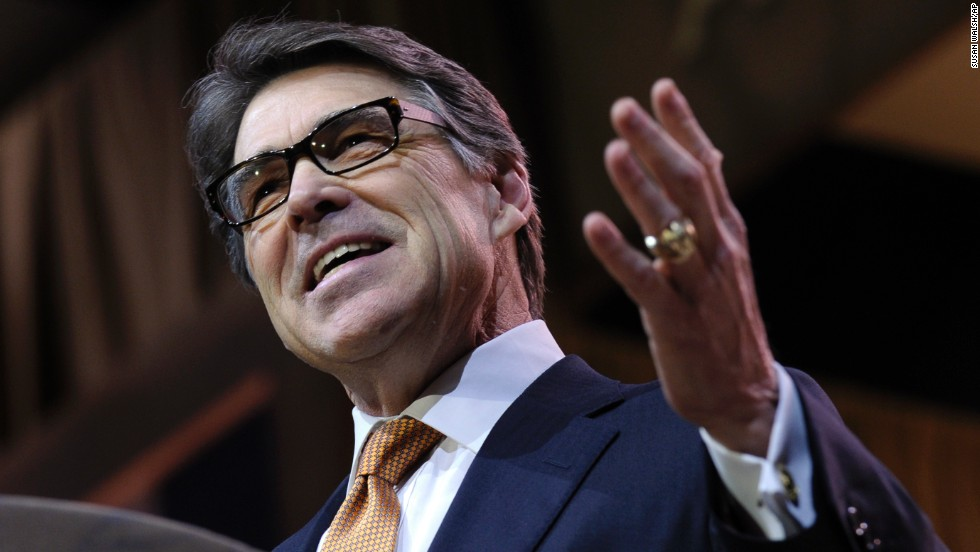 "Texas Gov. Rick Perry wowed the conservative gathering on Friday, March 7, with a rousing speech. ""It's time for a little rebellion on the battlefield of ideas,"" Perry said."