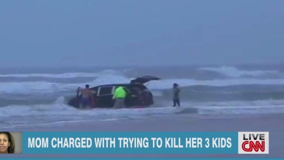 Sister: Mother who drove with children into ocean thought there were 'demons'