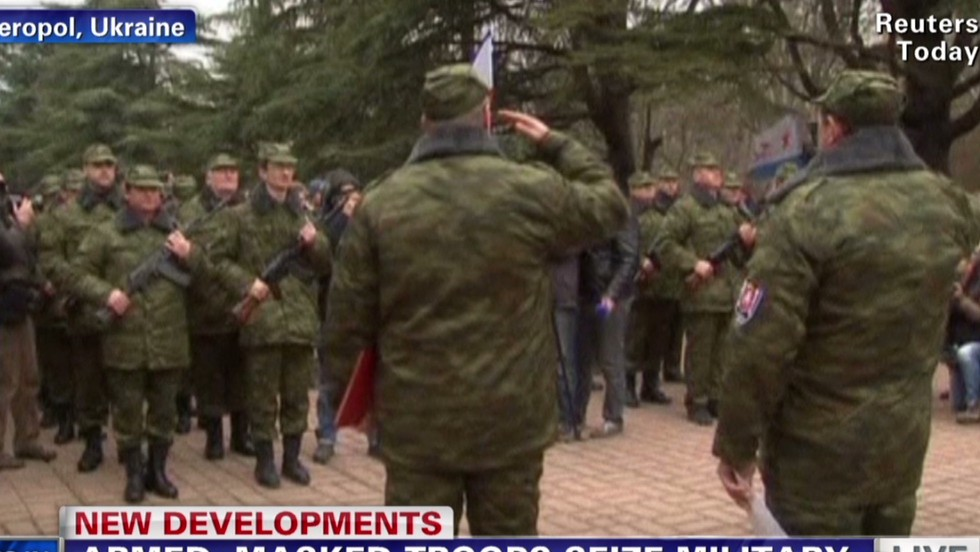Masked men seize Crimea military office - CNN Video