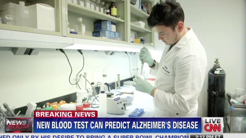Blood test predicts Alzheimer's disease