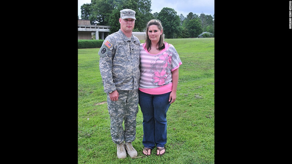 Before her husband,an Army specialist, left for Afghanistan in 2012, Misty weighed about 260 pounds.
