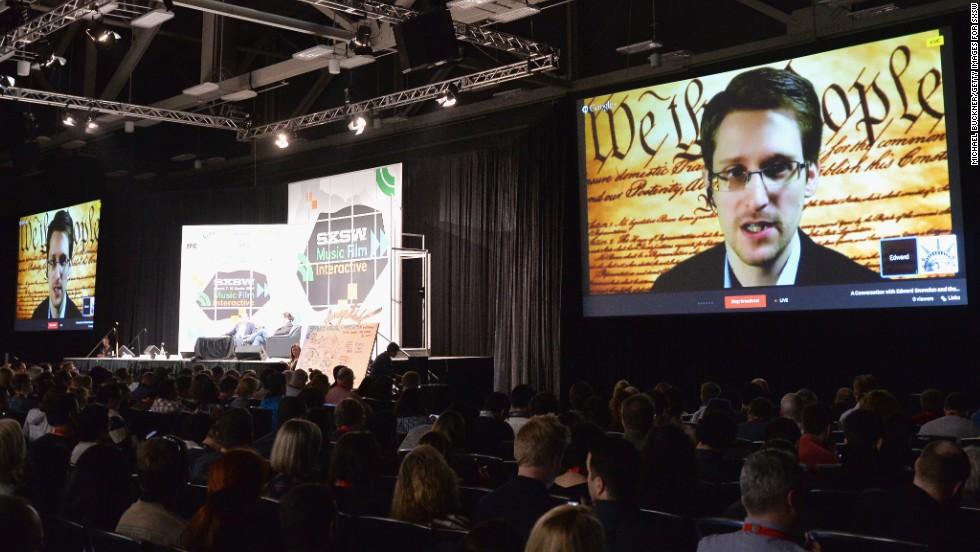 Edward Snowden speaks at SXSW, calls for public oversight of U.S. spy programs